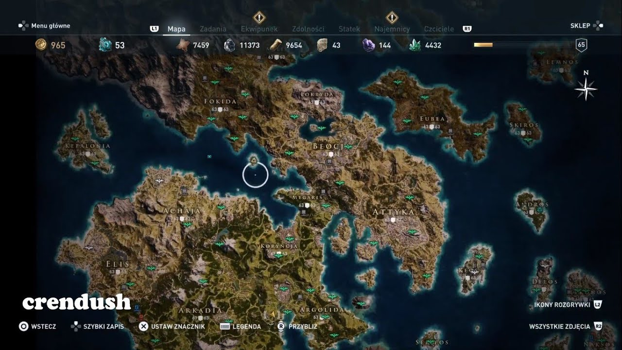 Assassin S Creed Odyssey Map Size Ps4 Pro Pl Youtube