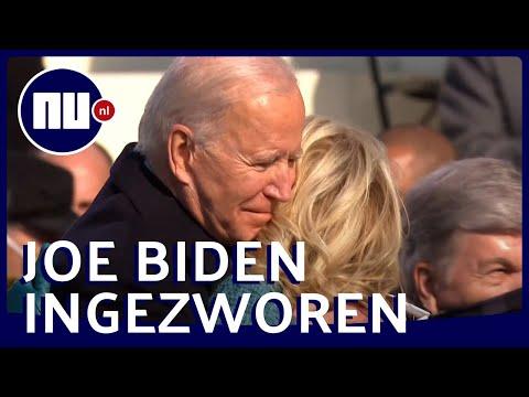 Zo verliep de inauguratie van Biden: 'Democratie heeft gezegevierd' | NU.nl