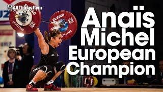 Anaïs Michel (48kg, France) 80kg Snatch 100kg Clean & Jerk 2017 European Championships thumbnail