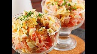ПРОСТОЙ Салат с ветчиной и сухариками! Как приготовить вкусный салат?!