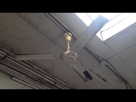 Very Rusty Dayton Industrial Ceiling Fan At Carwash Youtube