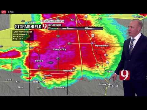 KWTV Tornado Warning Coverage  5/27/17