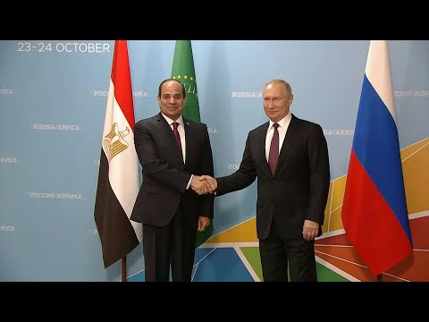 Putin meets with el-Sisi at Russia-Africa summit | AFP