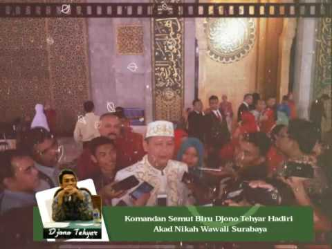 Komandan Semut Biru Djono Tehyar Hadiri  Akad Nikah Wawali Surabaya