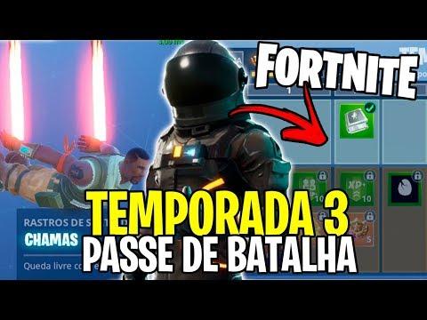 FORTNITE TEMPORADA 3 - ITENS DO NOVO PASSE DE BATALHA,  NOVAS MISSÕES E MUITO MAIS!