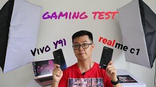 Vivo y91 VS Realme C1 Test Gaming - Indonesia