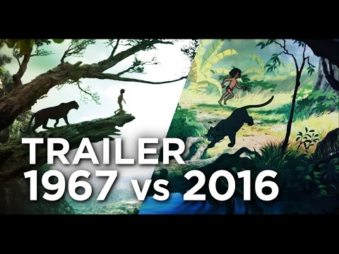 The Jungle Book Trailer  - 1967 vs 2016 Comparison/Side by S