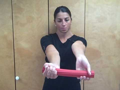 Golfer's Elbow Treatment with Flexbar (Reverse Tyler Twist)