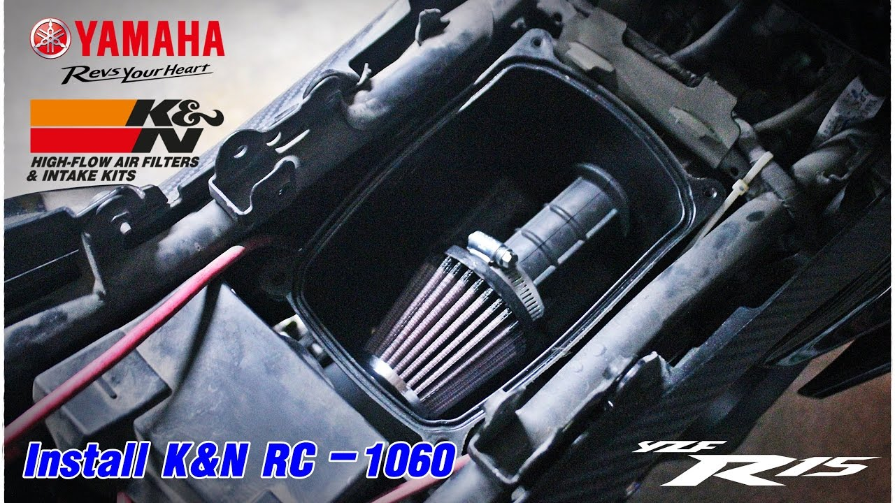How To Install K N Air Filter In Yamaha R