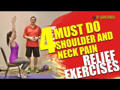 4 MUST DO Shoulder and Neck Pain Relief Exercises