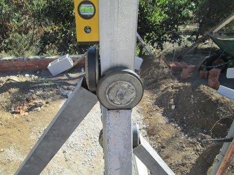 Puntales magnéticos  primera parte - Magnetic Poles - Como  colocar Postes o Tubos de hierro a Plomo
