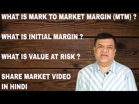 What is value at risk ? | What is initial margin ? | What is mark to market margin (MTM) ?
