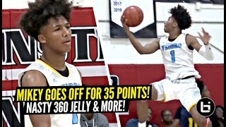 Mikey Williams NASTY 360 JELLY & Goes CRAZY For 35 Points!! Mikey Sauces Up Entire Squad!