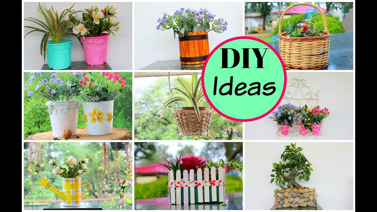 How to decorate old flower pots into new part 1 diy - How to decorate my home ...