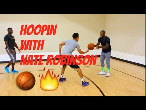 Hoopin with Nate Robinson! (Lost Vlog)