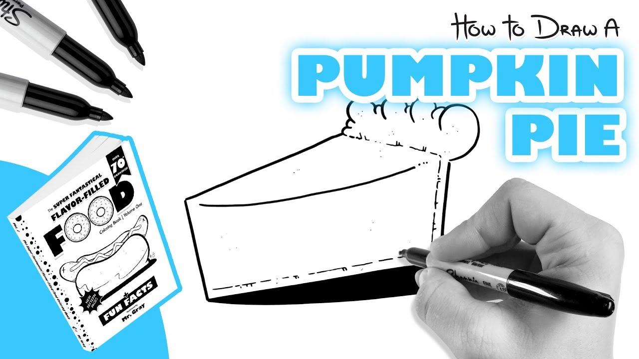 How To Draw Pumpkin Pie