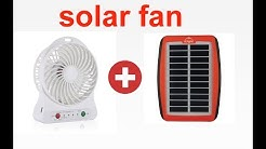 charge your mini portable fan from small solar panel