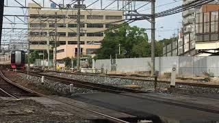 [レア?無点灯で入線‼️]名鉄2200系旧仕様車  2206f(特急中部国際空港行き)神宮前駅  入線‼️