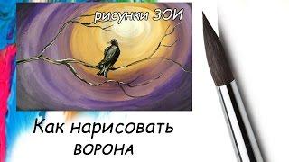 Рисунок Как нарисовать ворона. Как нарисовать птицу.(Рисунок Как нарисовать ворона. Как нарисовать птицу. Рисунки. Уроки рисования для начинающих. Как нарисоват..., 2016-04-22T07:06:30.000Z)