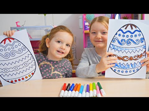 Coloram Oua de Pasti 3 Marker Challenge cu Sara si Sofia