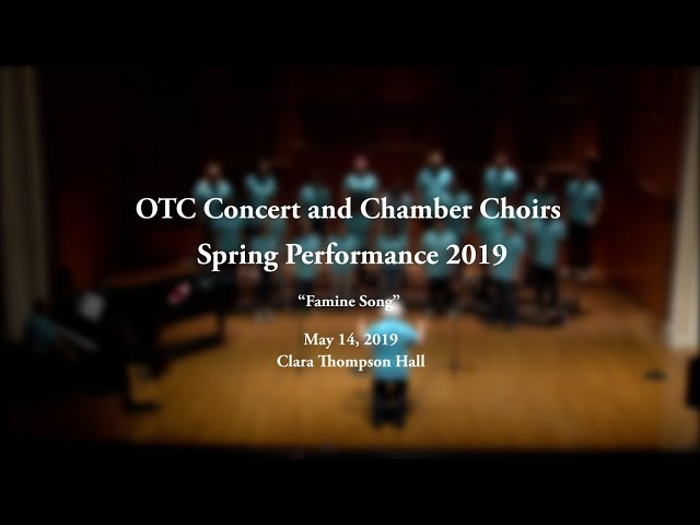 OTC Concert and Chamber Choirs 2019 Performance