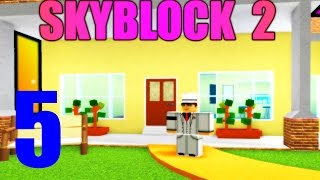 BUILDING A HOUSE! - Skyblock 2 Ep 5 - ROBLOX