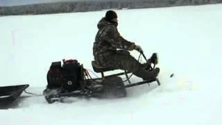 Самодельный лыжный модуль на собаку.