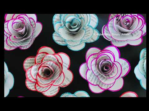 How To Make Easy Newspaper Rose Flower - Paper Craft - DIY Newspaper Flower