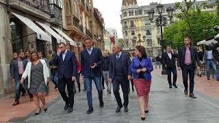 Pedro Sánchez visita Oviedo antes de acudir a un acto político en Gijón