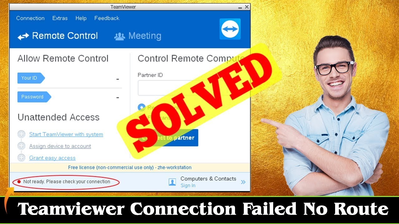 [FIXED] Teamviewer Connection Failed No Route Error Issue