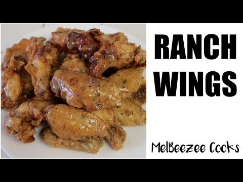 How to make garlic ranch chicken wings