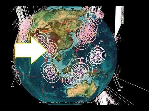 6/26/2018 -- Earthquake update -- M5.5+ earthquakes on the move - Europe , W. Pacific + USA activity - 동영상