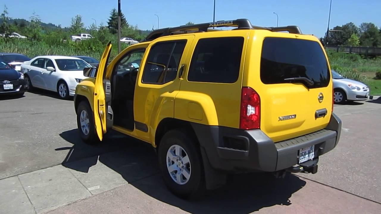 2007 Nissan Xterra Yellow Stock 13 2144b Youtube