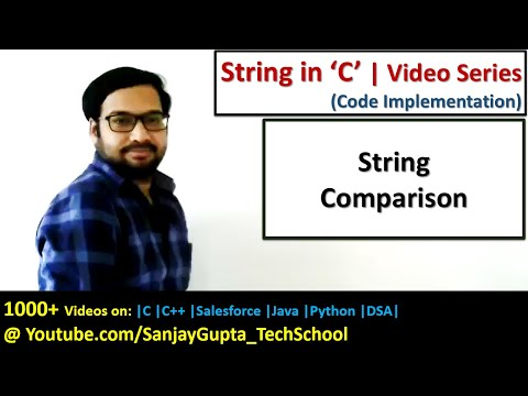 How To Perform String Comparison In C Programming Language | By Sanjay Gupta