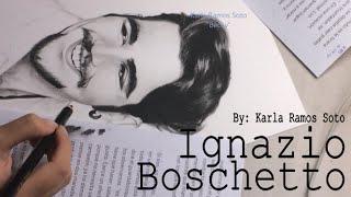 Speed Drawing of Il Volo - Part 1/3: Ignazio Boschetto