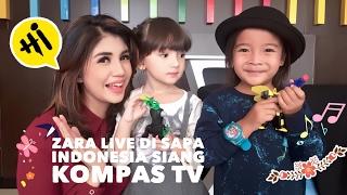 Suasana sebelum dan sesudah Live Talkshow Sapa Indonesia Siang di Kompas TV | Zara Cute dan Zjoske