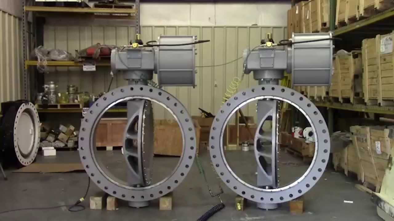 42 Inch Double Offset Butterfly Valves - YouTube