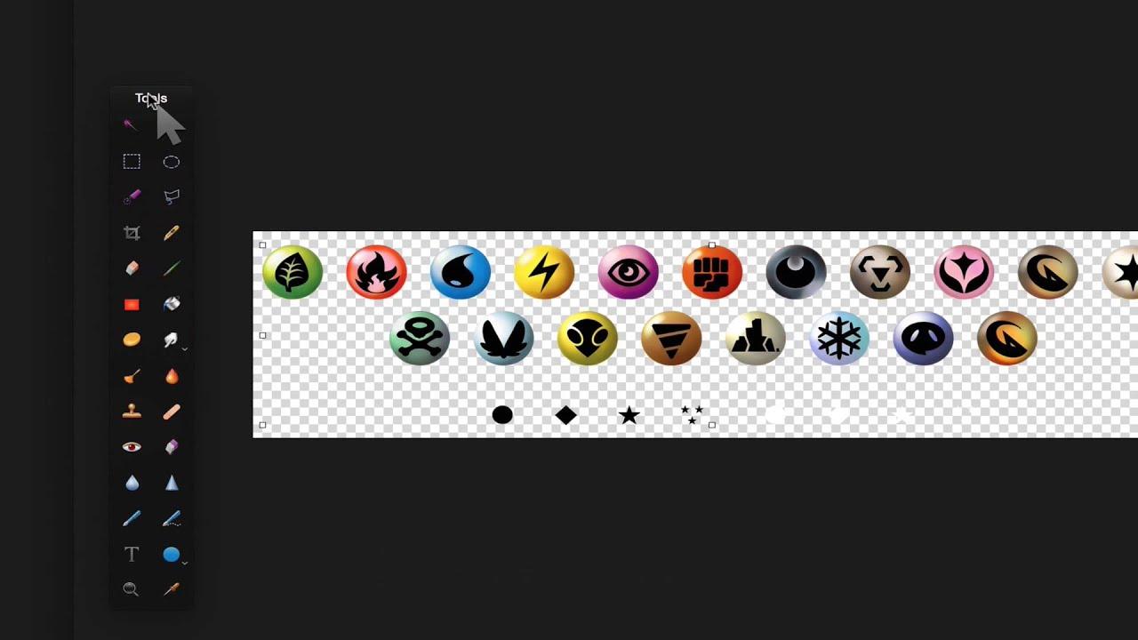 Add Energy Symbols To Pokemon Cards Youtube