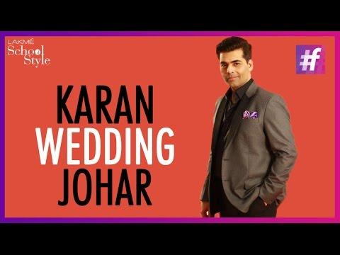 Karan Johar On Big Fat Indian Weddings   #fame School Of Style