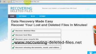 Recover Deleted XLS File In MINUTES