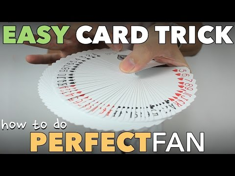 Easy Beginner Card Trick to Fan a Deck of Cards Perfectly - Thumb Fan Tutorial