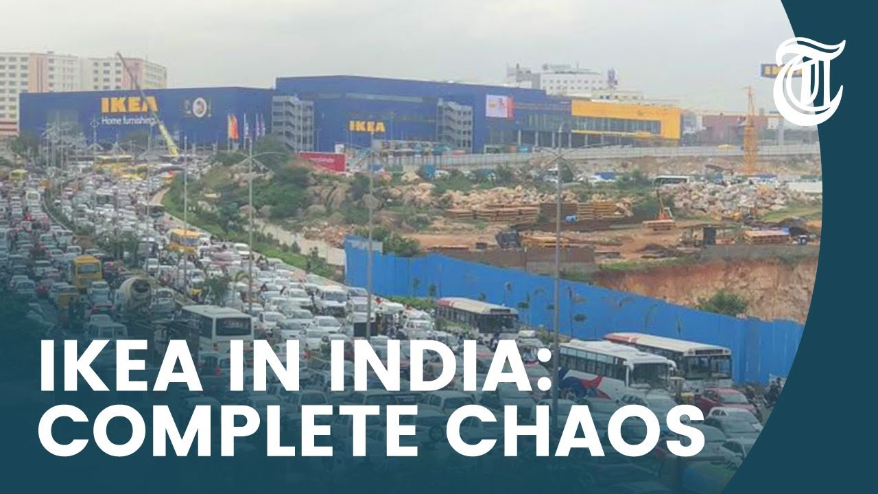 Eerste Ikea in India: een complete chaos - YouTube