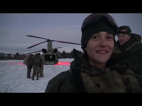 DFN:TRIDENT JUNCTURE 2018 - Cold load training with U.S. Chinook helicopters NORWAY 10.28.2018