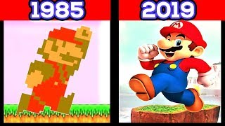 Evolution of Super Mario Games 1985 - 2017