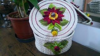 Como Fazer uma  Linda Caixa Para Presentes em Crochê.