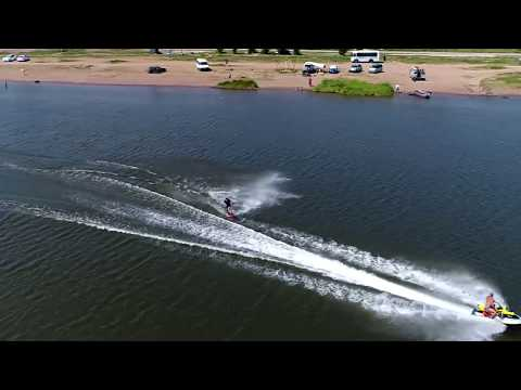 Hydrocycle & Wakeboarding from the sky