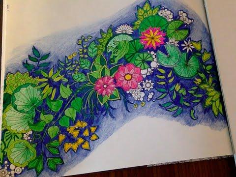 Secret Garden Coloring Book For Adults Pond