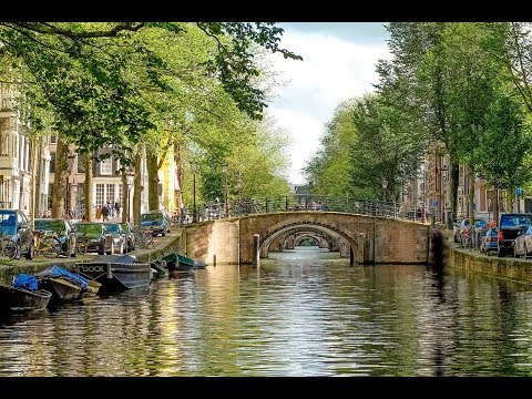 Beautiful Canals of Amsterdam in Netherlands