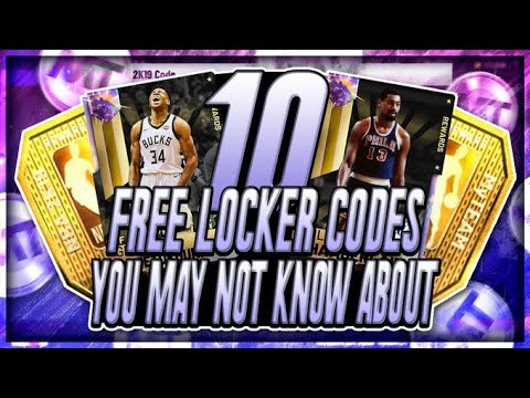 10 *FREE* LOCKER CODES YOU MAY NOT KNOW ABOUT!! FREE TOKENS AND MT!! NBA  2K19 MYTEAM