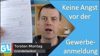 Gewerbe anmelden: Formular zur Gewerbeanmeldung ausfüllen ohne Angst